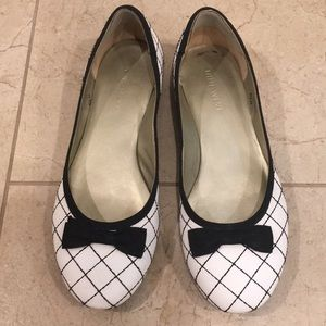 Nine West quilted leather bow flats 5.5 / 6